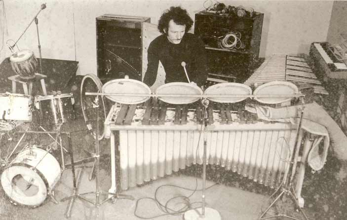 cleve pozar playing percussion